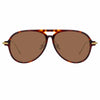 Linda Farrow Linear Gilles C3 Aviator Sunglasses