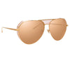 Linda Farrow 785 C5 Aviator Sunglasses