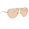 Linda Farrow 785 C6 Aviator Sunglasses