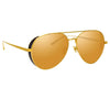 Linda Farrow Elgin C2 Aviator Sunglasses