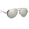 Linda Farrow Elgin C3 Aviator Sunglasses
