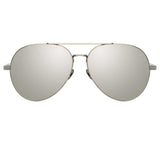 Linda Farrow Staveley C3 Aviator Sunglasses