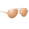 Linda Farrow Staveley C5 Aviator Sunglasses