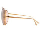 Linda Farrow Elgin C5 Aviator Sunglasses