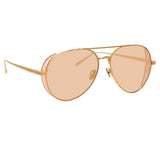 Linda Farrow Elgin C6 Aviator Sunglasses