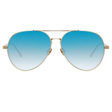 Linda Farrow Elgin C8 Aviator Sunglasses