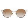 Linda Farrow Ali C5 Oval Sunglasses