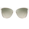 Linda Farrow Amina C7 Cat Eye Sunglasses
