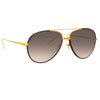 Linda Farrow 817 C10 Aviator Sunglasses