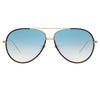 Linda Farrow 817 C11 Aviator Sunglasses