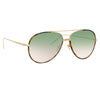 Linda Farrow 817 C12 Aviator Sunglasses
