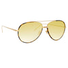 Linda Farrow 817 C13 Aviator Sunglasses