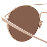 Linda Farrow 825 C3 Oval Sunglasses