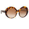 Linda Farrow 844 C2 Oversized Sunglasses