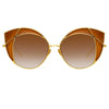 Linda Farrow Albany C2 Cat Eye Sunglasses