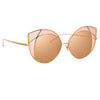 Linda Farrow Albany C6 Cat Eye Sunglasses