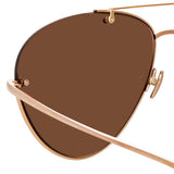 Linda Farrow Pine C3 Aviator Sunglasses