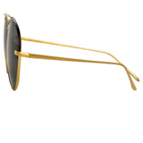 Linda Farrow Pine C4 Aviator Sunglasses