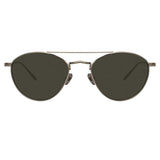Linda Farrow Caine C5 Aviator Sunglasses