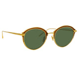 Linda Farrow Stanley C5 Oval Sunglasses