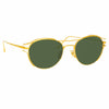 Linda Farrow Cradle C4 Oval Sunglasses