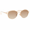 Linda Farrow Cradle C5 Oval Sunglasses
