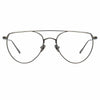 Linda Farrow Auguste C4 Aviator Optical Frame