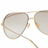 Linda Farrow 975 C7 Aviator Sunglasses