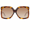 Linda Farrow 981 C2 Oversized Sunglasses