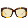Linda Farrow Lavinia C2 Rectangular Sunglasses