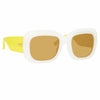 Linda Farrow Lavinia C4 Rectangular Sunglasses