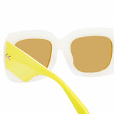 Linda Farrow 995 C4 Rectangular Sunglasses