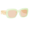 Linda Farrow Lavinia C5 Rectangular Sunglasses