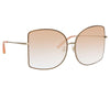 Matthew Williamson Lilac C2 Oversized Sunglasses