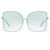 Matthew Williamson Lilac C3 Oversized Sunglasses