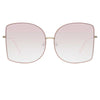 Matthew Williamson Lilac C4 Oversized Sunglasses