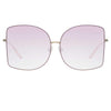 Matthew Williamson Lilac C5 Oversized Sunglasses