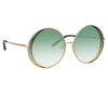 Matthew Williamson Blossom C3 Round Sunglasses