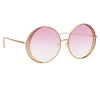 Matthew Williamson Blossom C4 Round Sunglasses