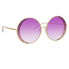 Matthew Williamson Blossom C5 Round Sunglasses
