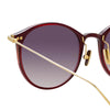 Linda Farrow Linear 02A C11 Oval Sunglasses