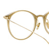 Linda Farrow Linear Gray A C7 Oval Optical Frame