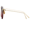 Linda Farrow Linear Gray C11 Oval Sunglasses