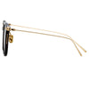 Linda Farrow Linear Stern A C8 Square Sunglasses