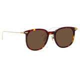Linda Farrow Linear Stern C9 Square Sunglasses