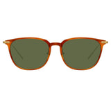 Linda Farrow Linear 07 C11 Rectangular Sunglasses