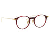Linda Farrow Linear Chevron C4 Oval Optical Frame