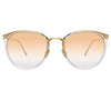 Linda Farrow Calthorpe C7 Oval Sunglasses