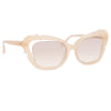Linda Farrow Salma C3 Cat Eye Sunglasses