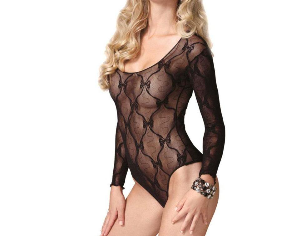 Leg Avenue Bow Lace Teddy